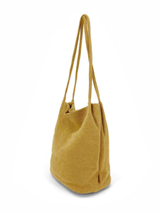 Natural Long Handle Bag - Mustard