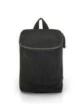 Load image into Gallery viewer, Top Zip Natural Backpack - Black