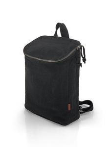 Top Zip Natural Backpack - Black