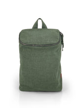 Load image into Gallery viewer, Top Zip Natural Backpack - Green