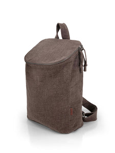 Top Zip Natural Backpack - Mocha