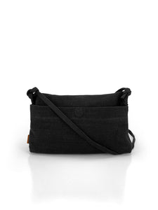 Natural Roll-top Bag - Black