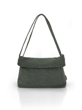 Load image into Gallery viewer, Natural Roll-top Bag - Green