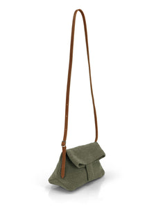 Natural Crossbody Bag - Green