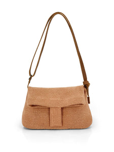 Natural Crossbody Bag - Rust