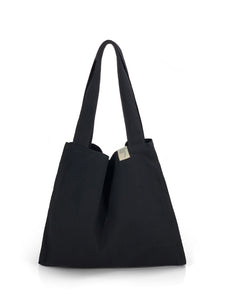 Natural Shopping Bag - Black