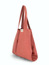 Load image into Gallery viewer, Natural Shopping Bag - Coral