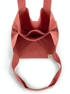 Natural Shopping Bag - Coral