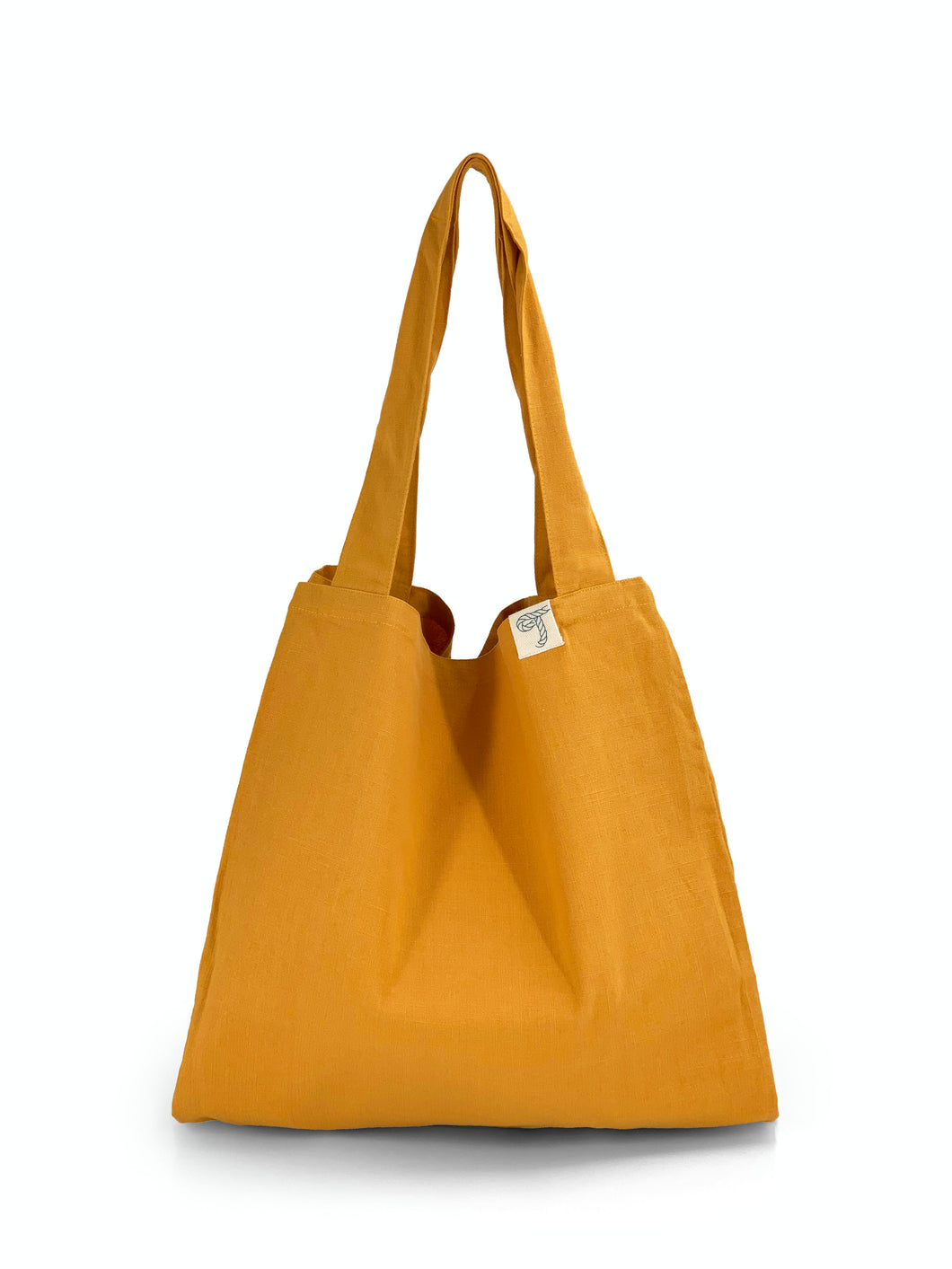 Natural Shopping Bag - Mustard