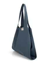 Load image into Gallery viewer, Natural Shopping Bag - Navy