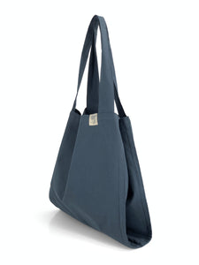 Natural Shopping Bag - Navy