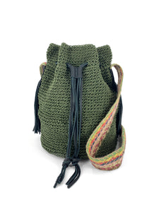 Handwoven Bucket Bag - Green