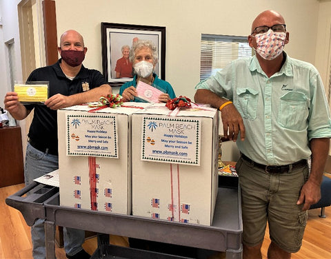 palm beach mask donating 2000 disposable face masks to local palm beach county organization St Ann place