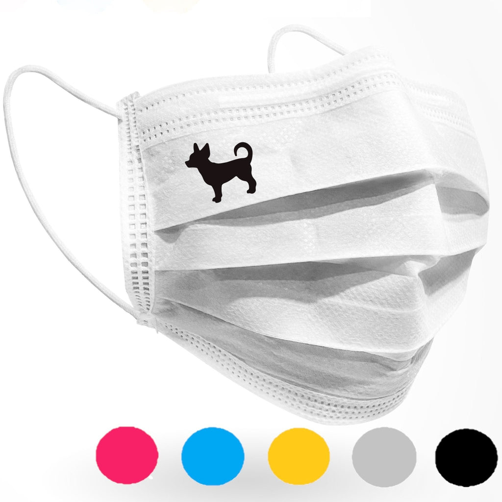 Chihuahua Dog Logo Mask 10 pack white - Palm beach mask