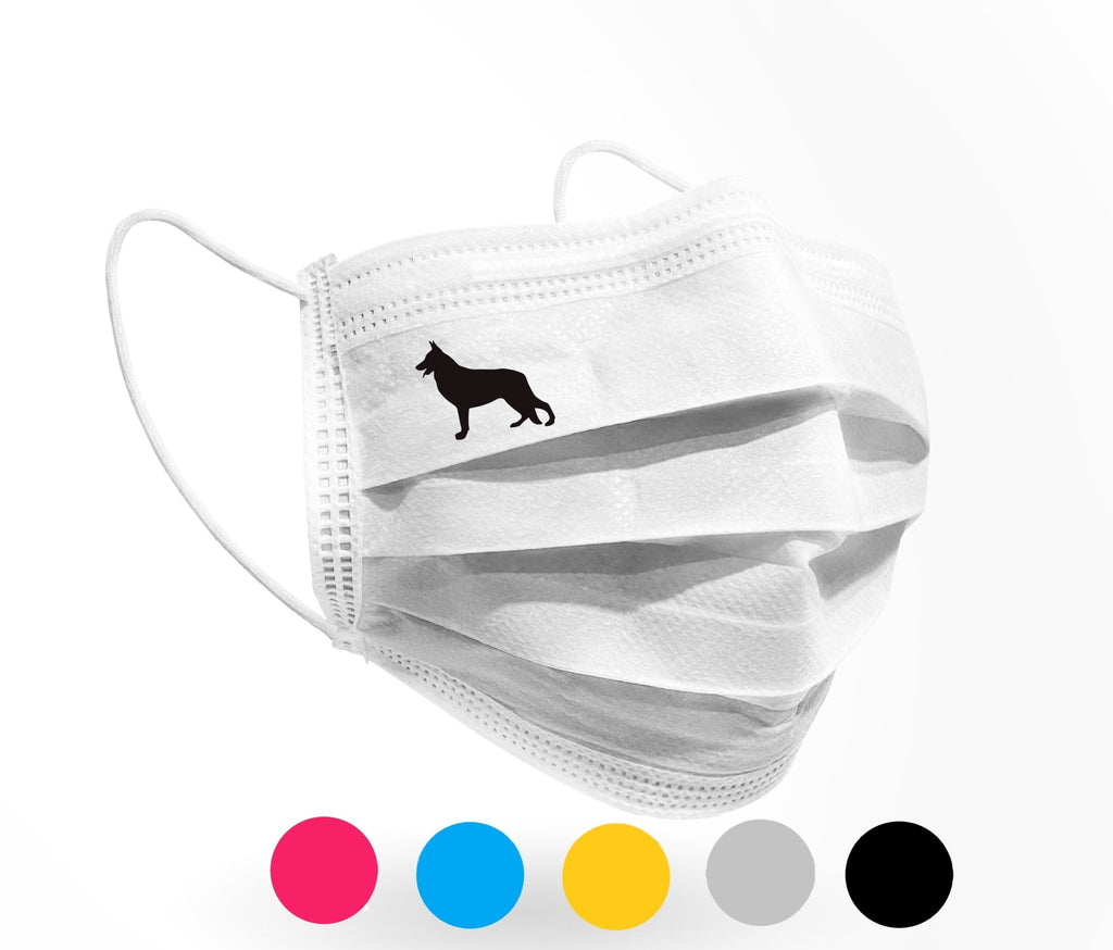German Shepherd Logo Mask 10 pack white - Palm beach mask