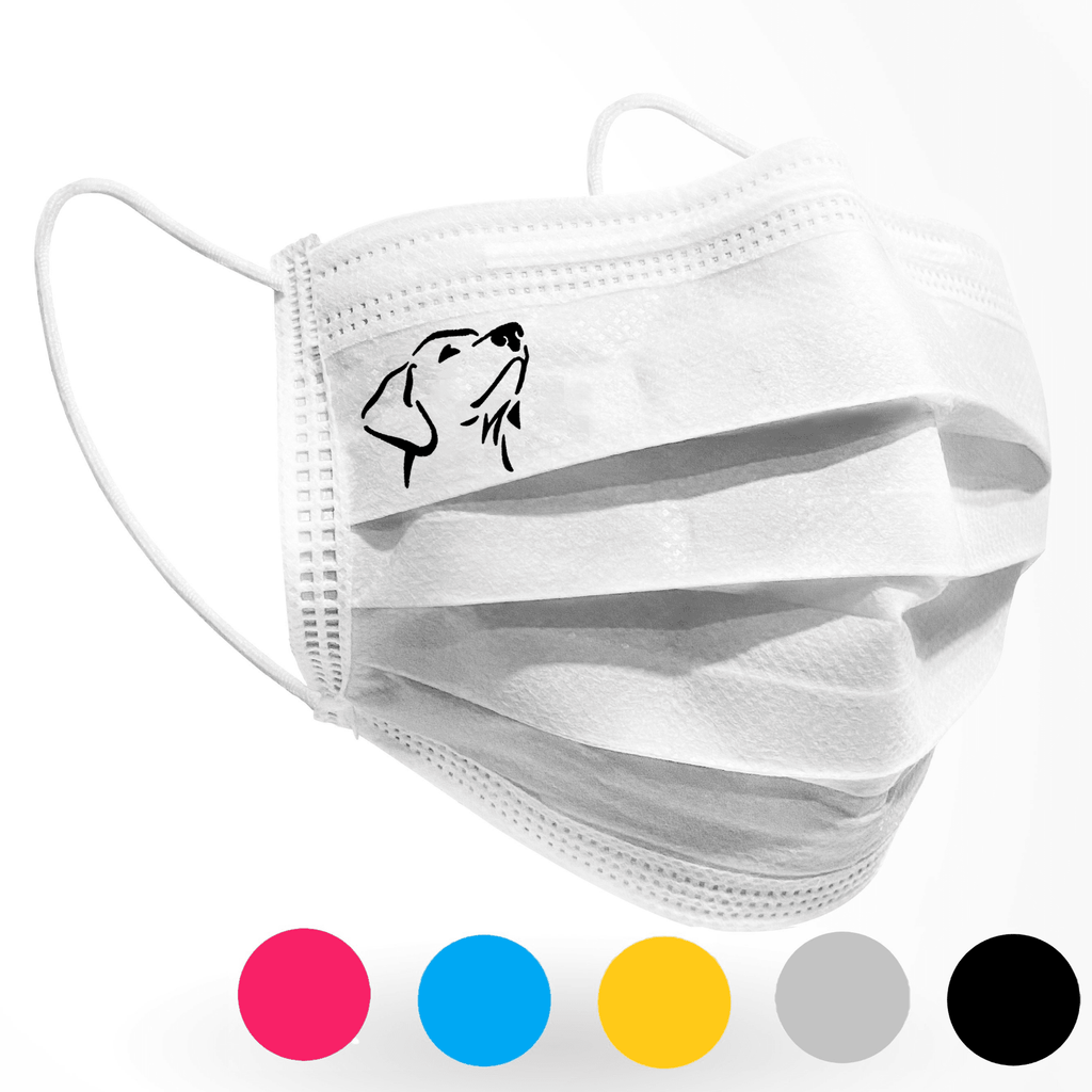 Labrador Retriever face Logo Mask 10 pack on White - Palm beach mask