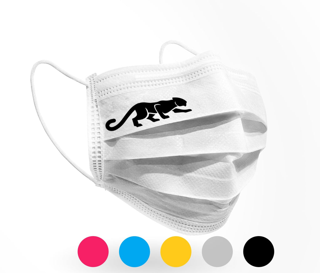 Panther Logo Mask 10 pack on White - Palm beach mask