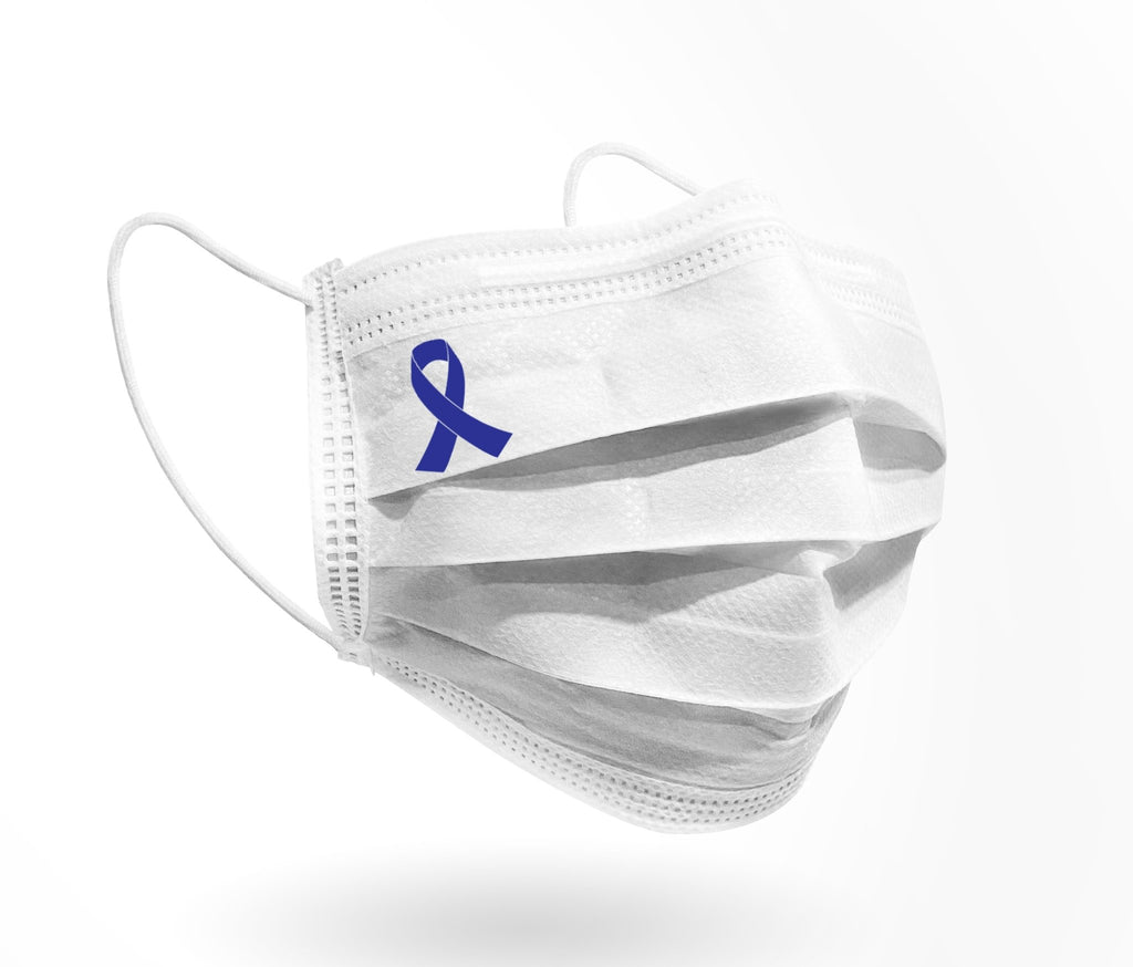 Ribbon Logo Mask 10 pack on White - Palm beach mask