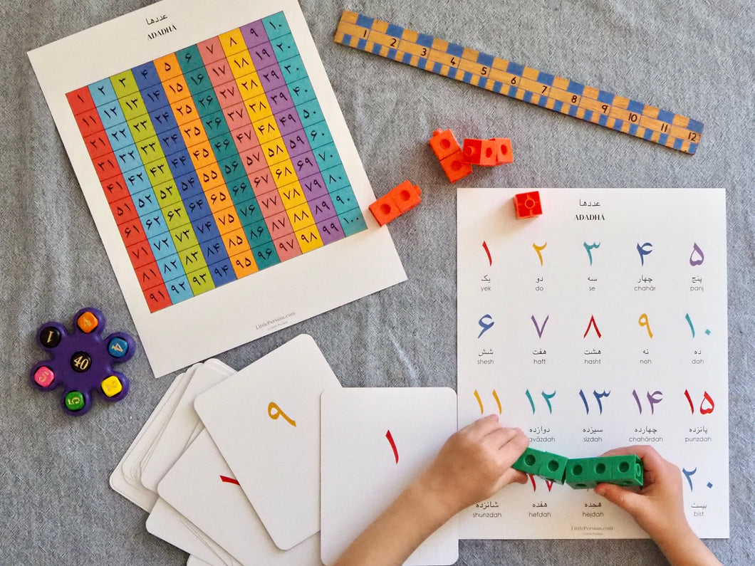 Persian / Farsi Number Learning Set