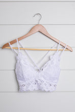 Load image into Gallery viewer, Lacey and Layered Bralette in White