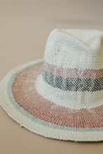 Load image into Gallery viewer, Undercover Striped Straw Hat