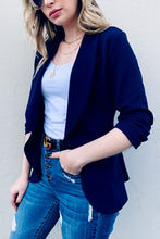 Load image into Gallery viewer, Acting Like A Lady Blazer in Navy