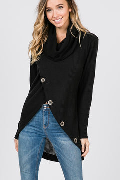 Funnel Neck Waffle Top