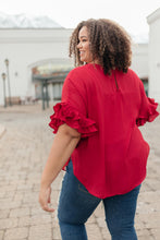Load image into Gallery viewer, Be Mine Ruffle Sleeve Top