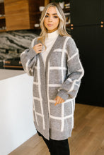 Load image into Gallery viewer, Bold Lines Cardigan in Heather Grey