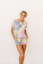 Load image into Gallery viewer, Brushed Knit Tie Dye Lounge Top In Blue