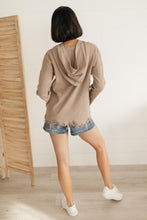 Load image into Gallery viewer, Frayed Edges Hoodie in Taupe