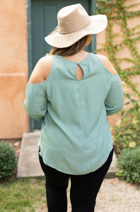 Hot Then Cold Blouse In Spearmint