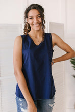 Load image into Gallery viewer, Jenna Basic Tank in Navy