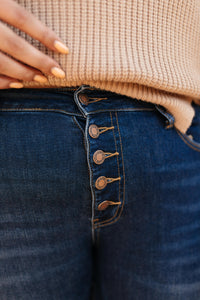 Just A Button Rise Jeans