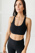 Load image into Gallery viewer, Lazy Days Racerback Bra in Black