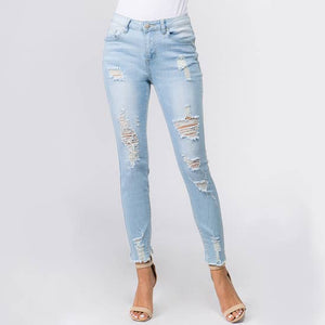 Say What??  Distressed Denim Jeans