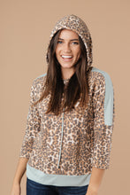 Load image into Gallery viewer, Mint Leopard Hoodie