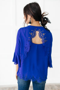 Royal Blue Dream Blouse