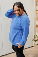 Load image into Gallery viewer, Sadie's Simple Sweater in Blue