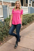 Load image into Gallery viewer, Side Strap Tee in Hot Pink