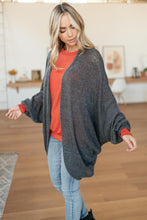 Load image into Gallery viewer, Slouchy Vibe Cardigan in Charcoal