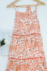 Spotty Coverage Tiered Dress