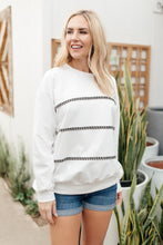 Load image into Gallery viewer, Stitched Together Pullover in White