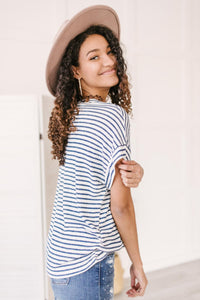 Stripes You'll Knot Forget Top