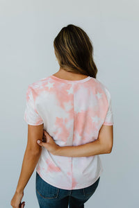 Cloudy With A Chance Of Stars V-Neck In Blush