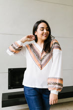 Load image into Gallery viewer, Lace Overlay Waffle Knit Top