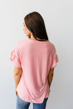 Load image into Gallery viewer, Vertical Horizon Striped Top In Coral