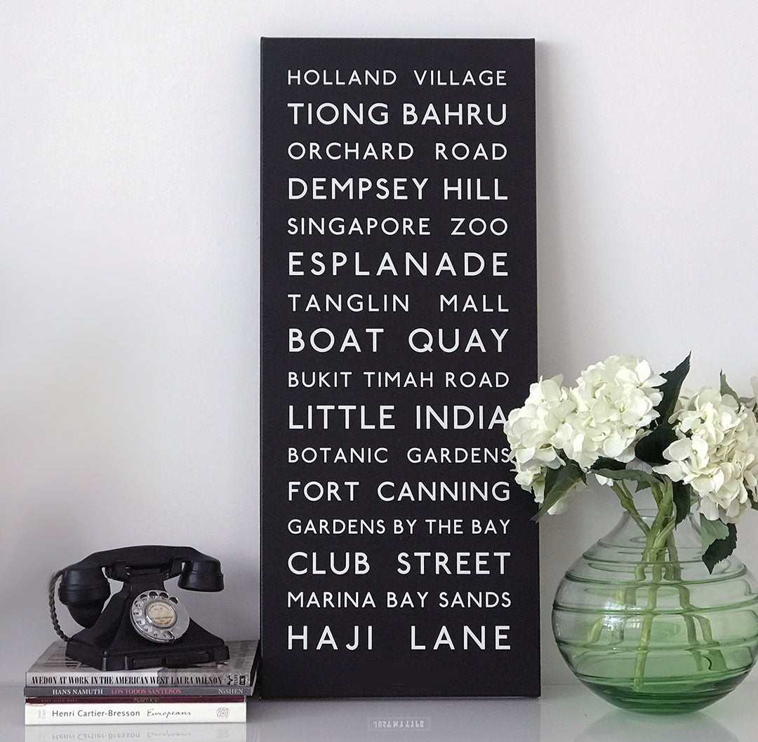 Personalised Bus Destination Canvas