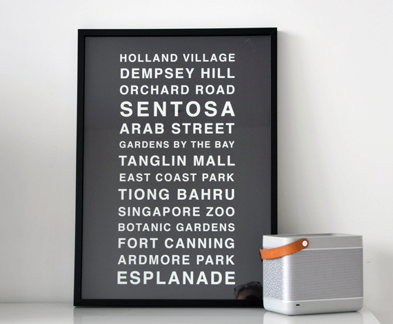 Personalised Bus Destination Print