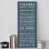 Personalised Family Rules Canvas